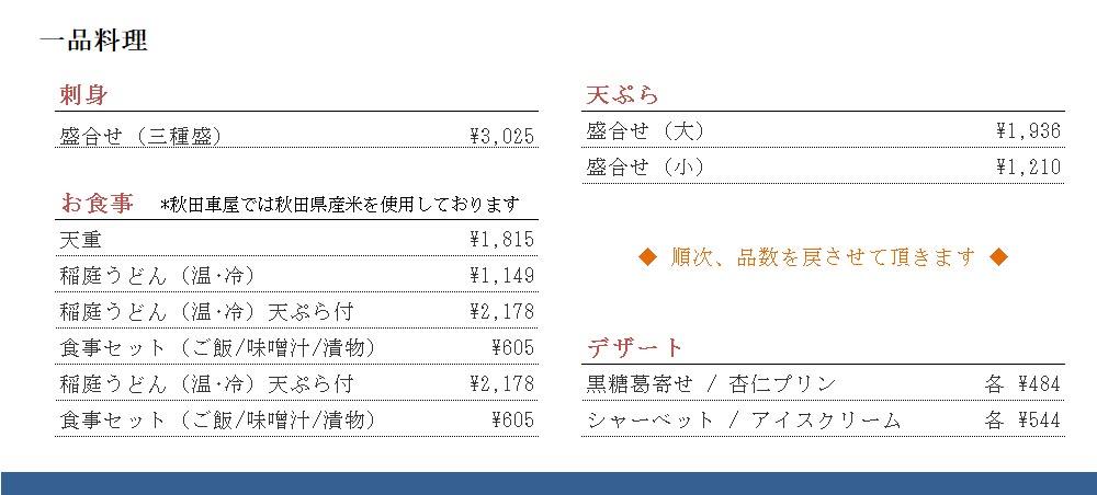 秋田車屋 一品 200519