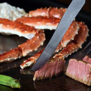 たらば蟹&ステーキ