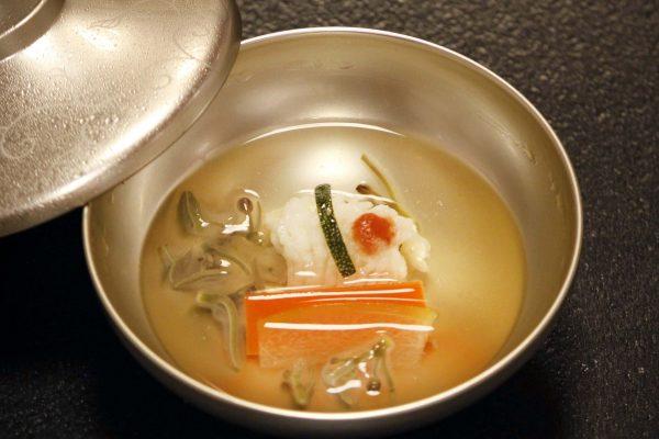 鮎塩焼としゃぶしゃぶ小鍋のコース 椀盛
