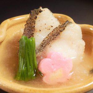 真鯛と芹の煮おろし