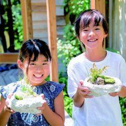 夏休み盆栽体験
