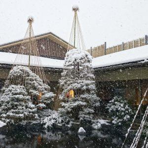 昭和の森車屋 雪吊