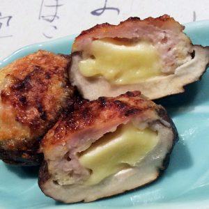 肉厚椎茸の肉詰めチーズ入り