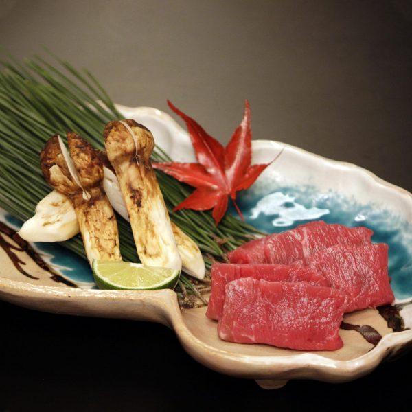 松茸&国産牛ステーキ