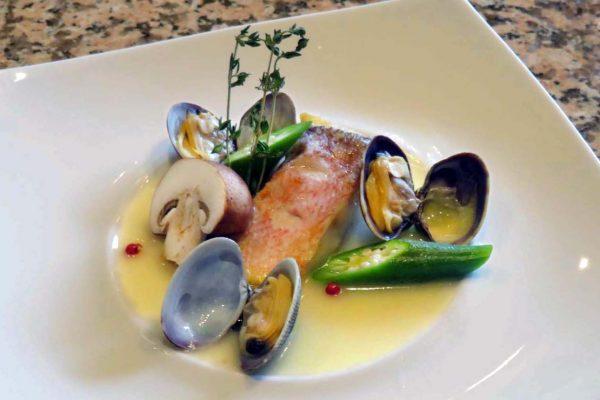 Zenzero コースの魚料理